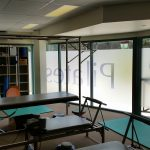 Pilates Mooloolaba internal view of frosted etch